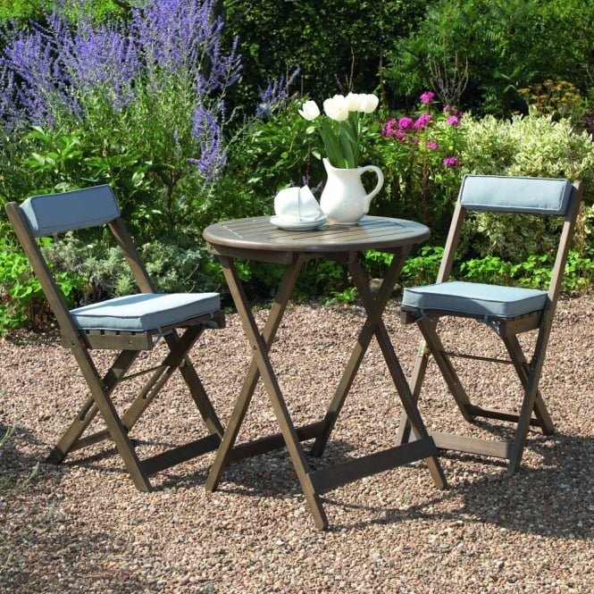 Greenhurst Raffles Bistro Set With Cushions