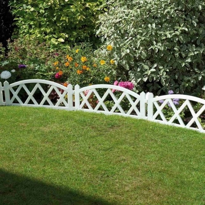 Greenhurst White Fence Panels - Pack Of Four