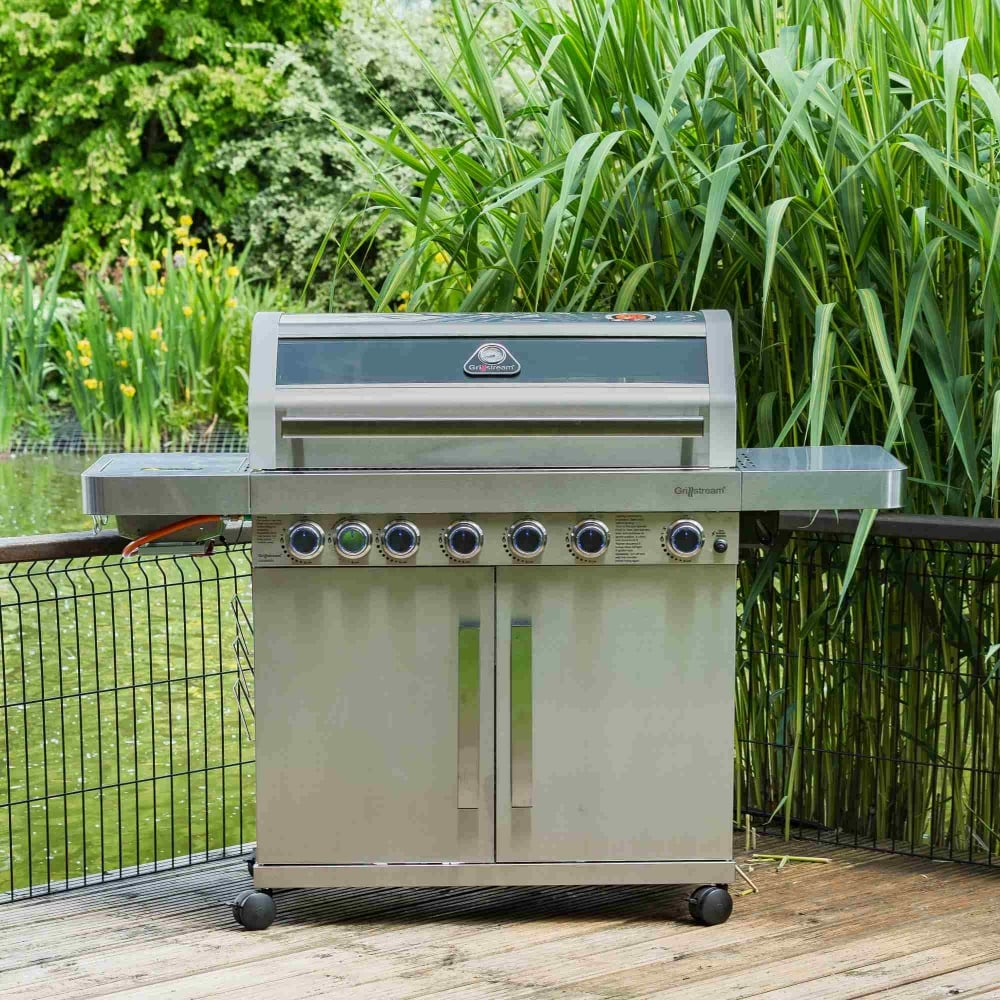 Gourmet 6 Burner Stainless Steel Barbecue   Garden Street