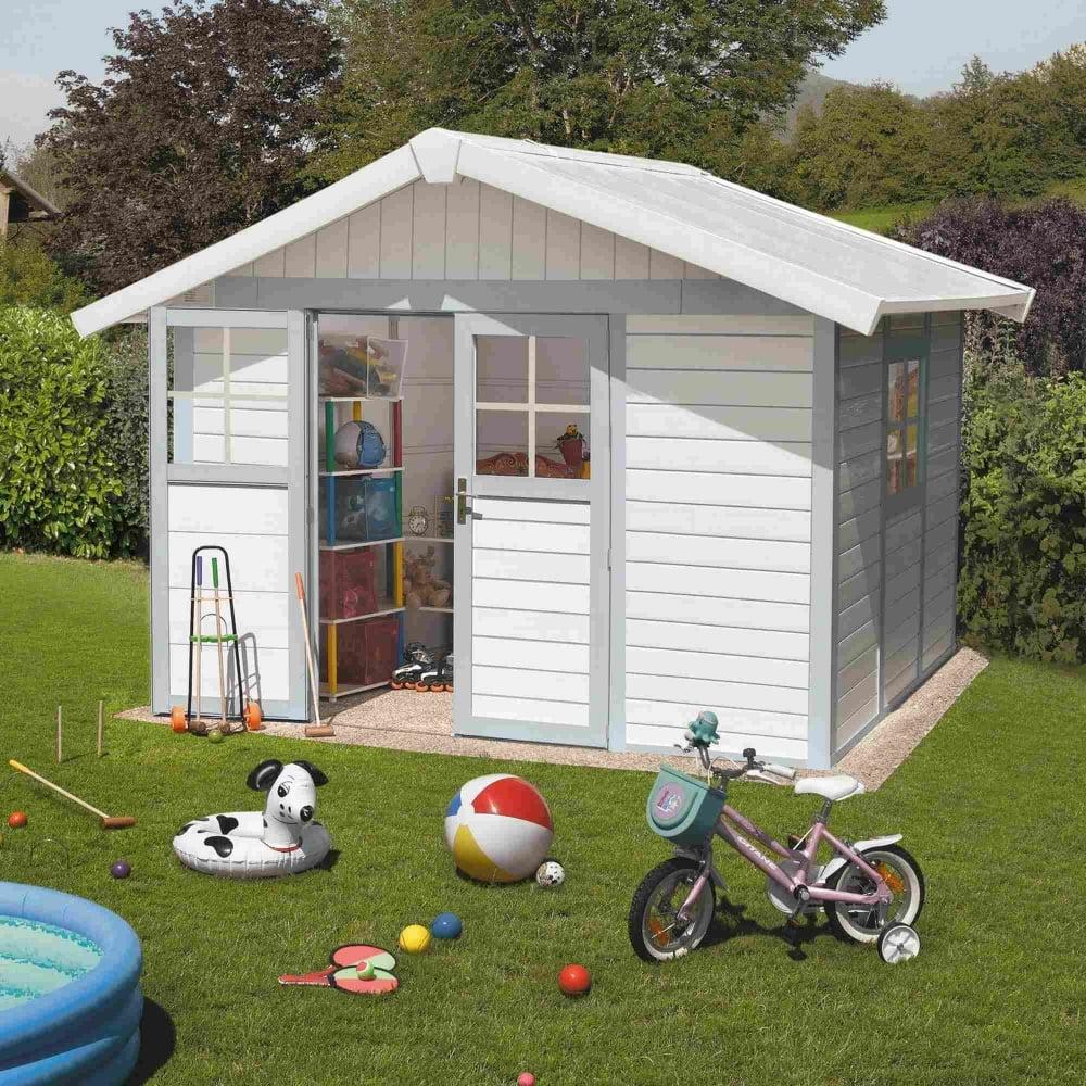 Grosfillex Garden Deco Pvc Shed 12x10 Garden Street