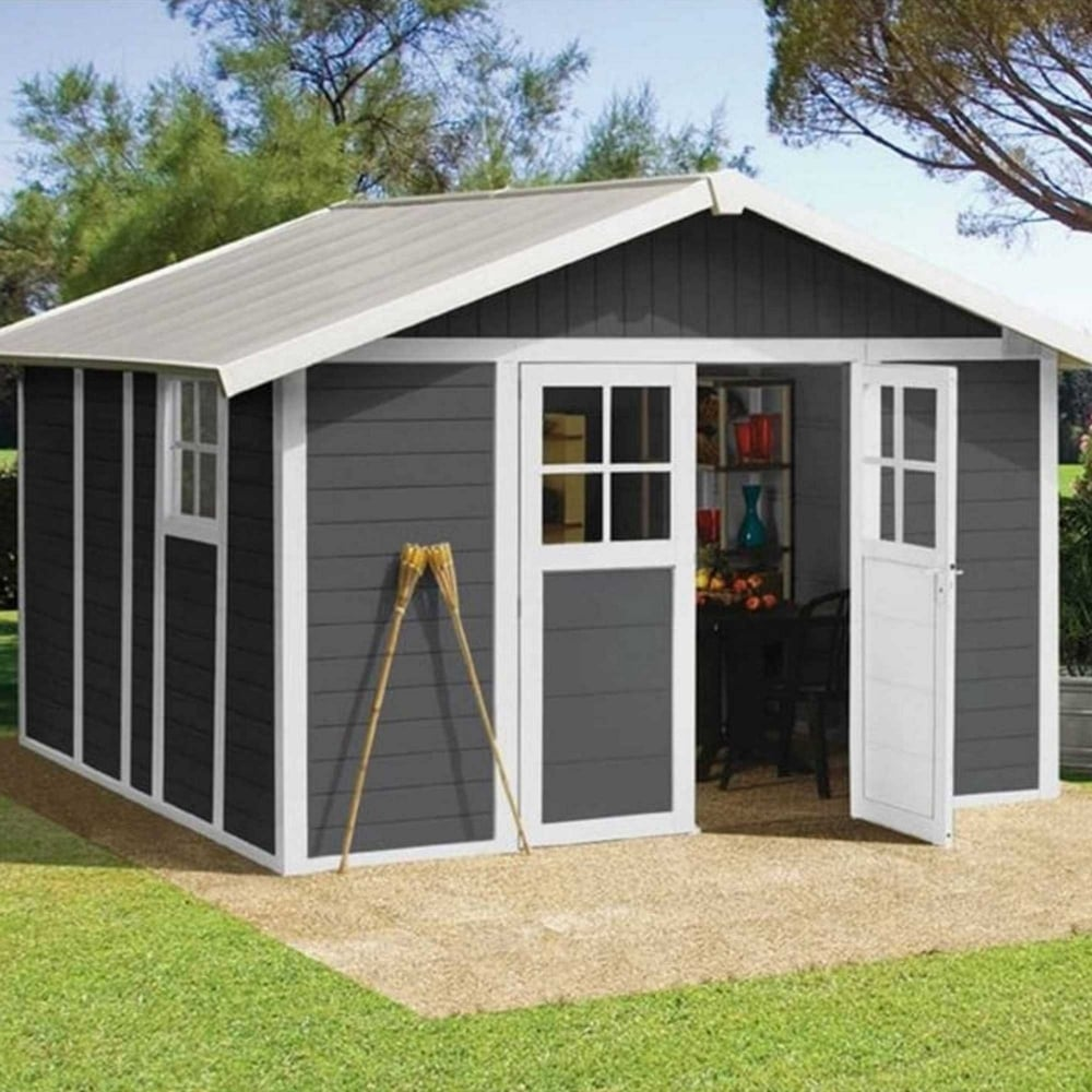 Lovely Garden Deco PVC Shed 12X13