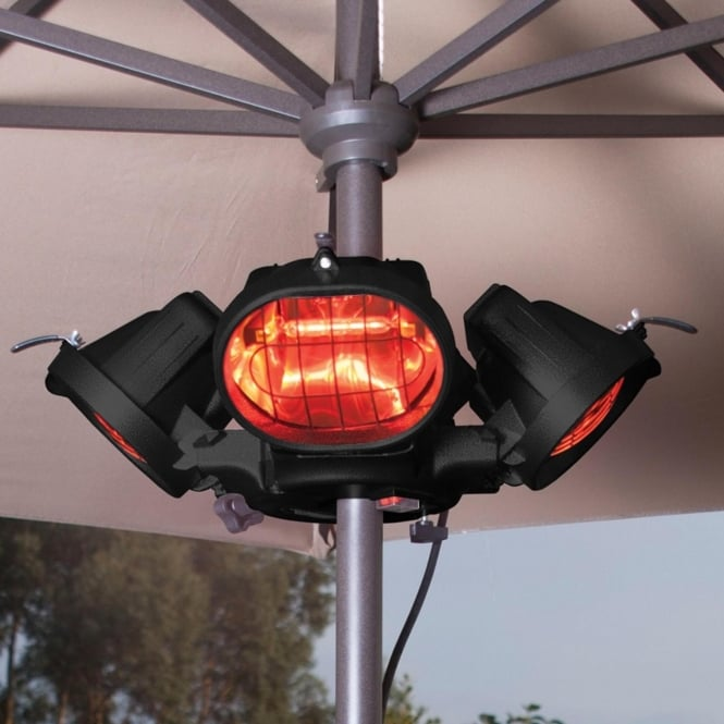 Heatmaster Popular 2000W Infrared Parasol/Tripod Mounted Patio Heater