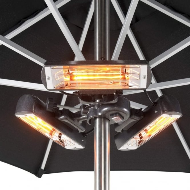 Heatmaster Slimline Super 2400W Infrared Parasol/Tripod Mounted Patio Heater
