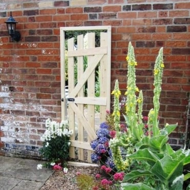 Illusion Slimline Gate Ajar Garden Mirror