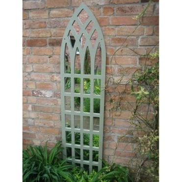 Illusions Gothic Tall Trellis Garden Mirror