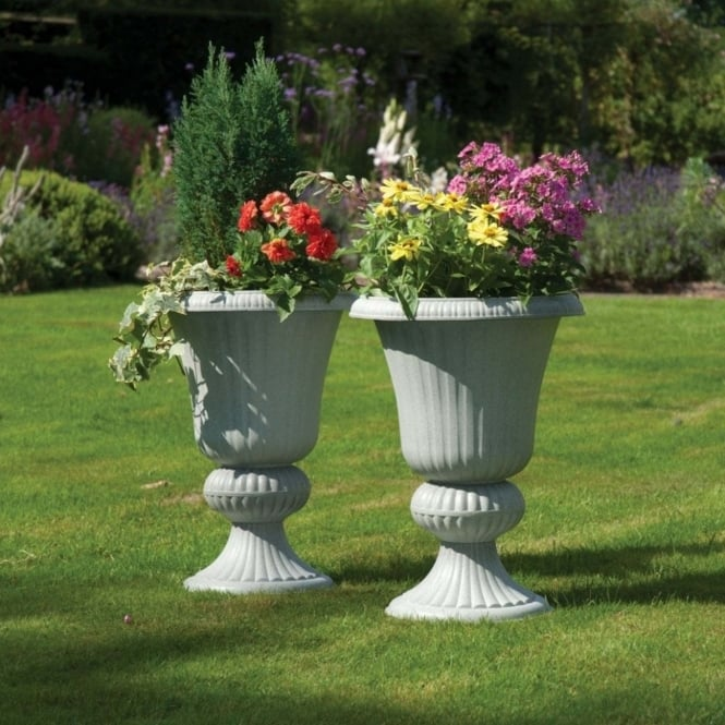 Greenhurst Imperial Stone Effect Urn Planters - Pack Of Two