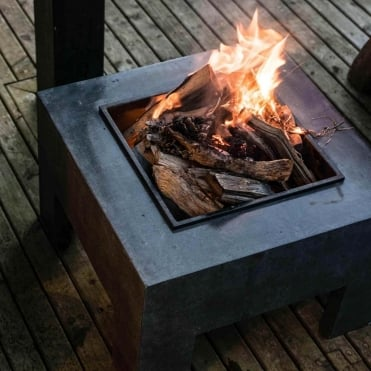 Firefly Square Granite Firebowl