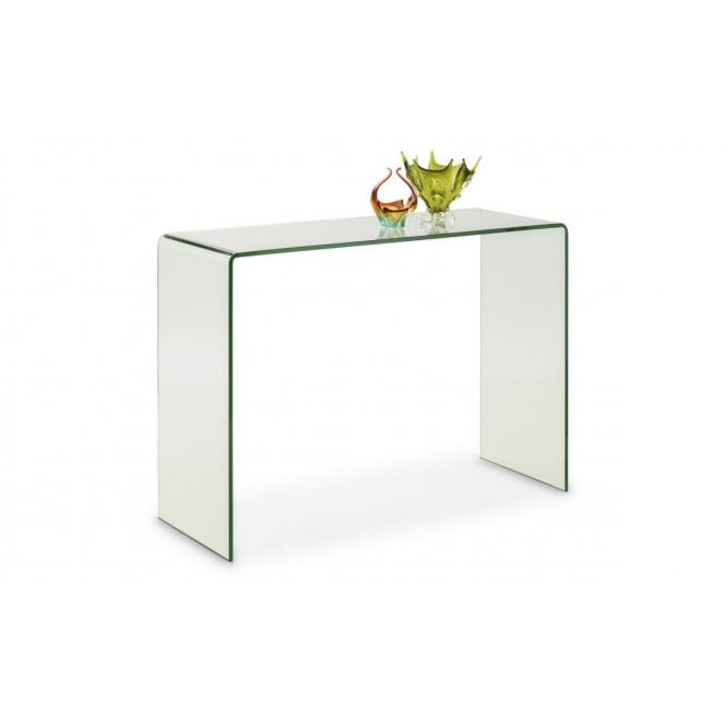 Image of Amalfi Bent Glass Console Table