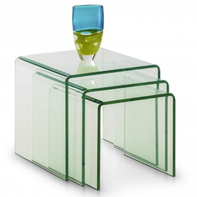 Image of Amalfi Bent Glass Nest Of Tables