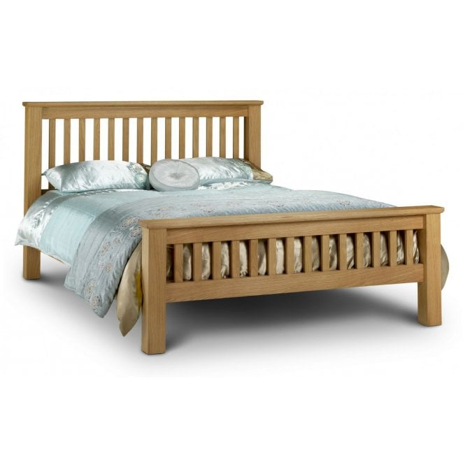 Image of Amsterdam Oak Double Bed - High Foot End