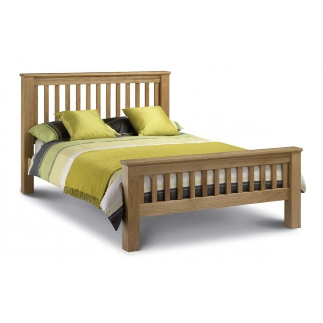 Image of Amsterdam Oak King Size Bed - High Foot End