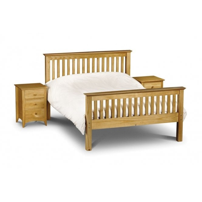 Image of Barcelona High Foot End Double Bed - Solid Pine
