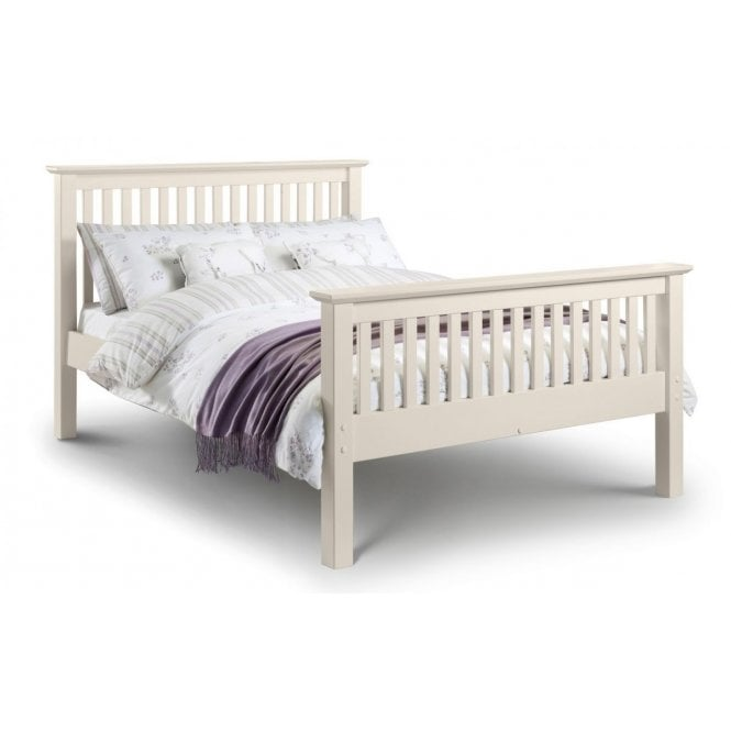 Image of Barcelona High Foot End King Size Bed - Stone White