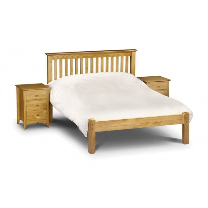 Image of Barcelona Low Foot End King Size Bed - Solid Pine