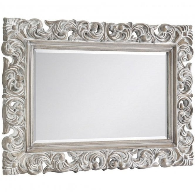 Image of Baroque Distressed Wall Mirror
