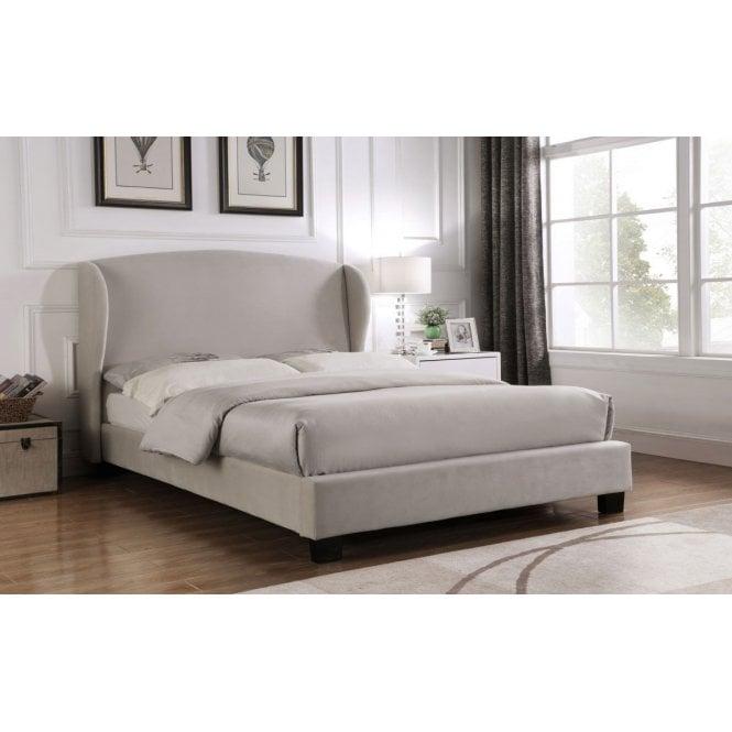 Image of Blenheim Velvet Wing King Size Bed