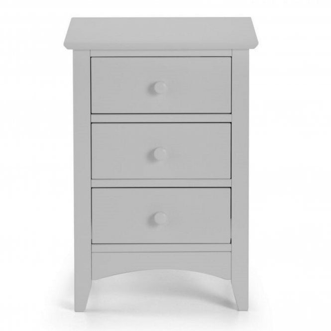 Image of Cameo 3 Drawer Bedside - Dove Grey