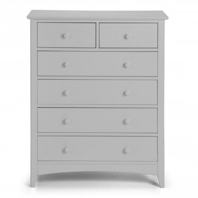 Image of Cameo 4+2 Drawer Chest - Dove Grey
