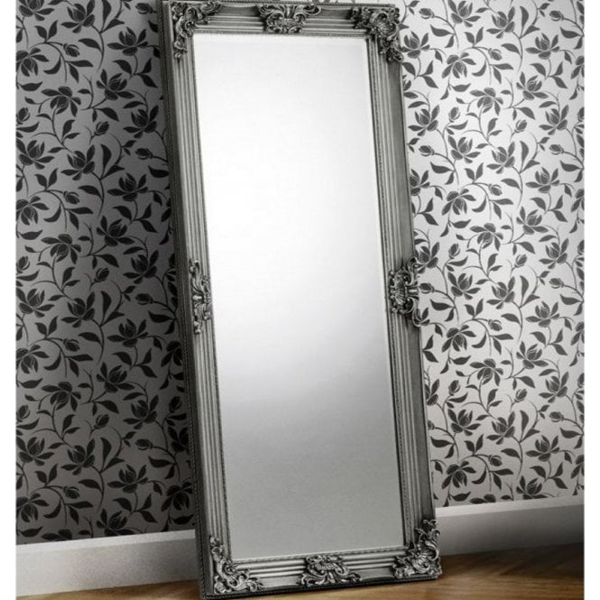 Image of Rococo Pewter Lean-to Dress Mirror