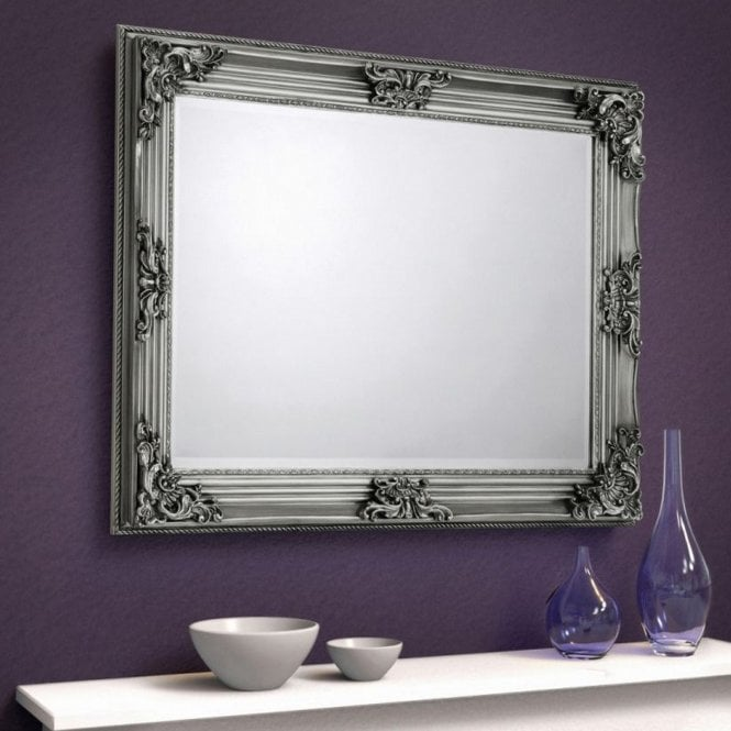 Image of Rococo Pewter Wall Mirror