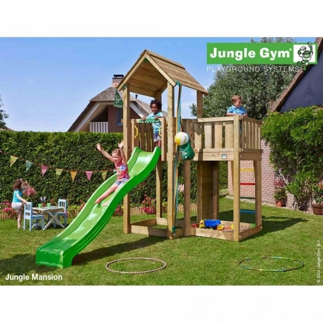 Jungle Gym Jungle Mansion Including Slide