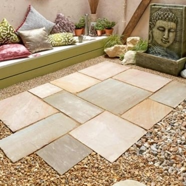 Natural Sandstone Patio Paving Kit 15.3m²