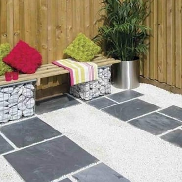 Natural Slate Patio Paving Kit 10.2m²