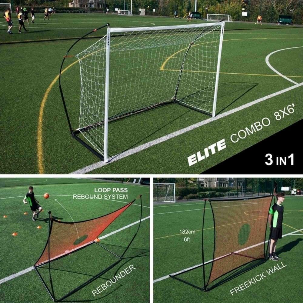 Kickster Elite Combo Football Wall Rebounder Goal 8x6