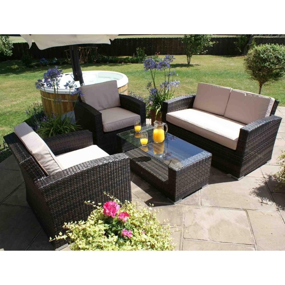 Maze Rattan Kingston 2 Seat Sofa Set | Garden Street