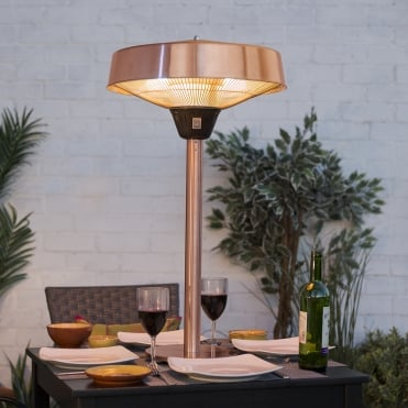 2100W Tabletop Halogen Heater - Copper