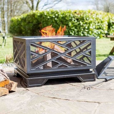 Brooklyn Deep Steel Firepit With Grill