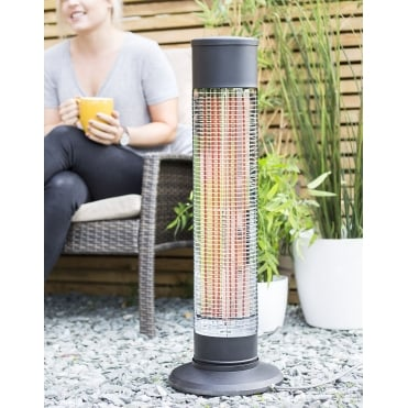 Revolving Carbon Fibre Heater - Black