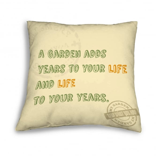 LeisureGrow Casual Country Gardener's Motto Scatter Cushion