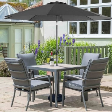 Milan Aluminium 4 Seater Dining Set