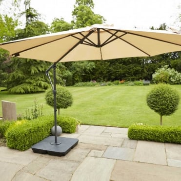 Orchid 3m Easy Up Cantilever Parasol