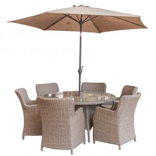 LG Outdoor Saigon 6 Seater Dining Set