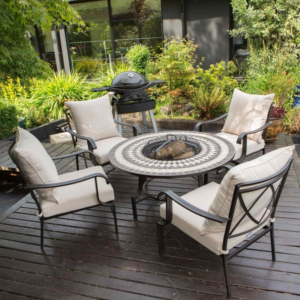 leisuregrow casablanca 4 seater firepit lounge set. Black Bedroom Furniture Sets. Home Design Ideas