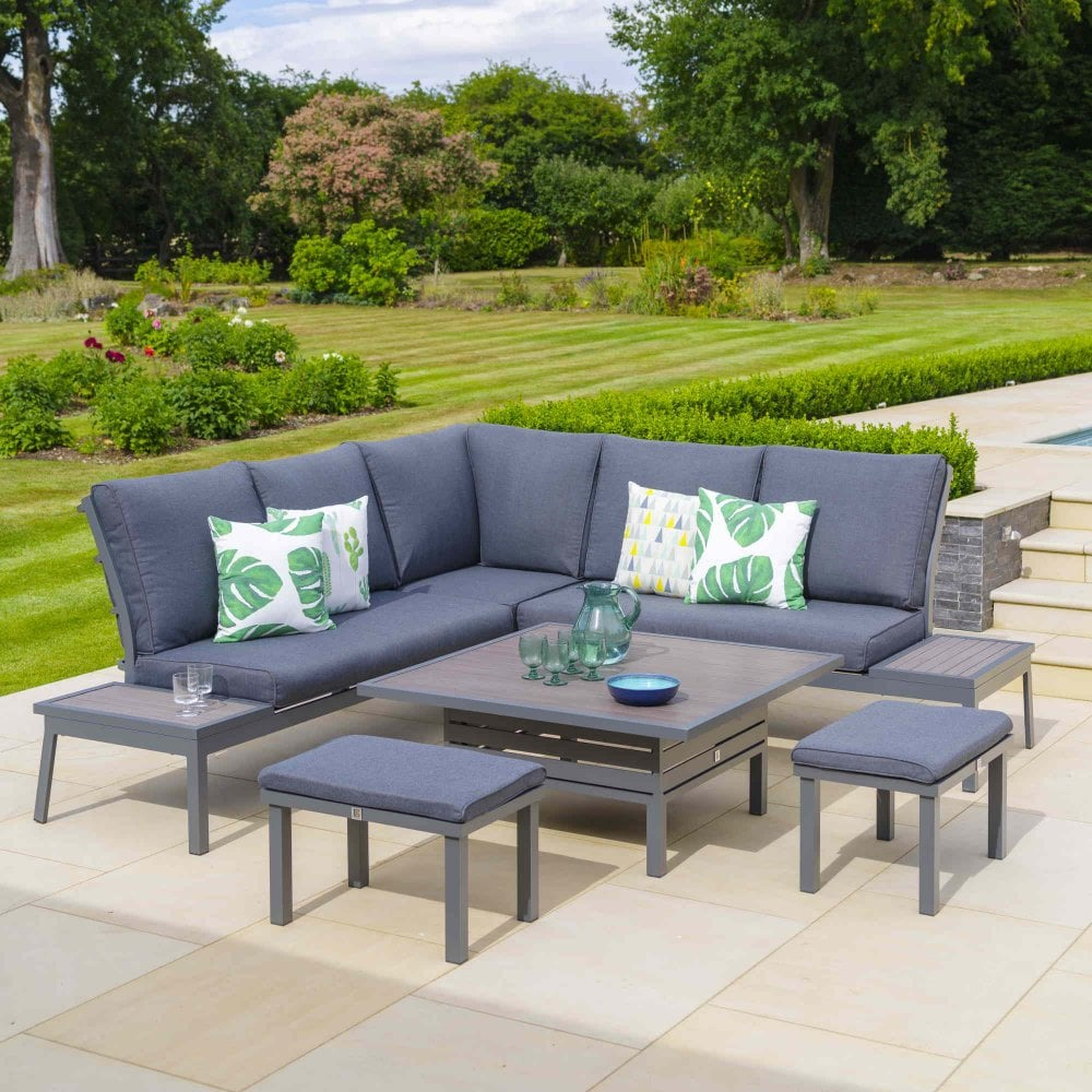 LG Outdoor Milano Modular Dining Set With Adjustable Table