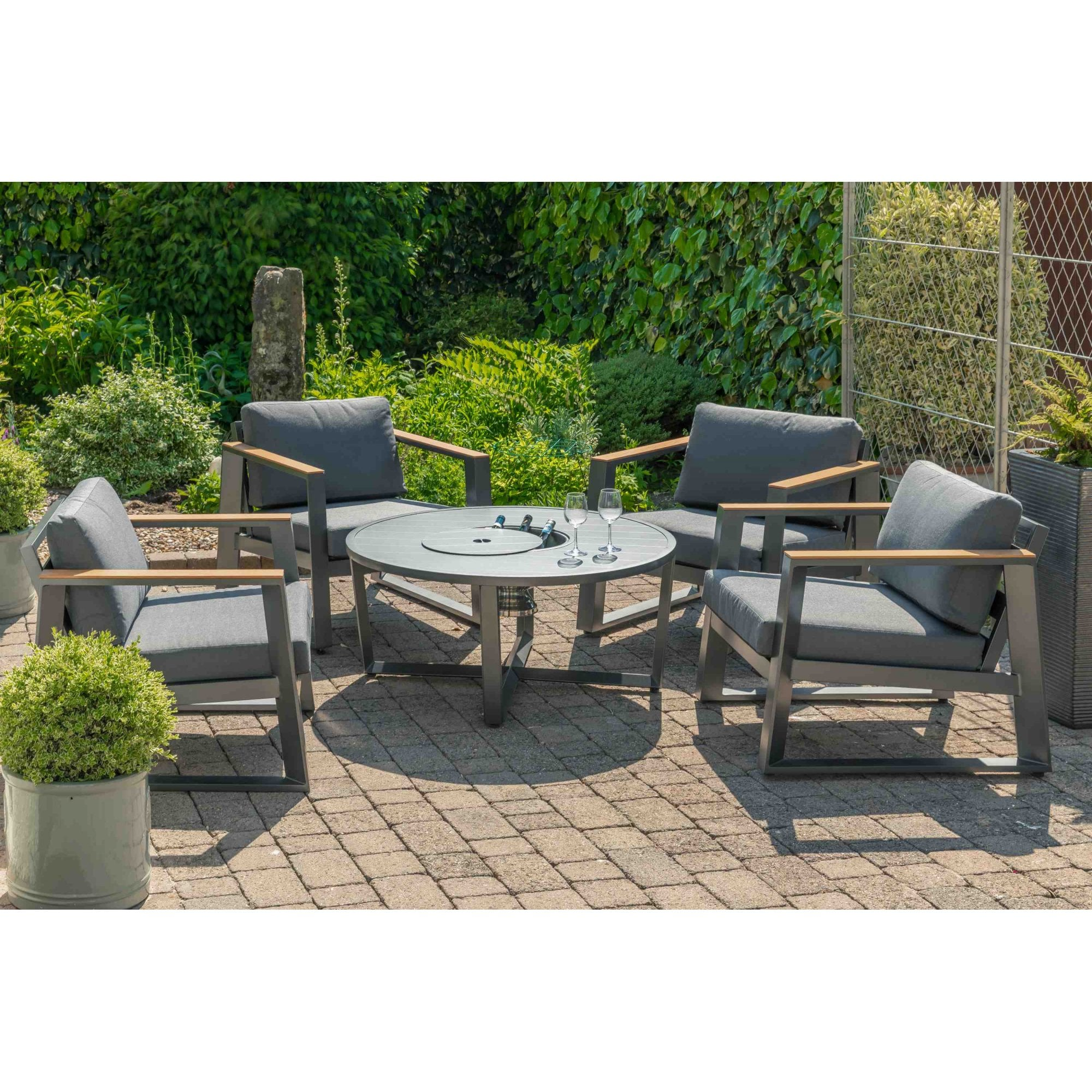 Lg Outdoor Roma Ice Bucket Lounge Set Garden Street