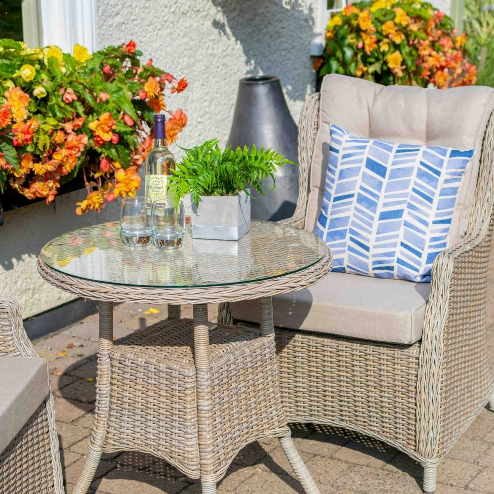 809b7e58e857 LG Outdoor Toulon 2 Seater Highback Dining Set | Garden Street