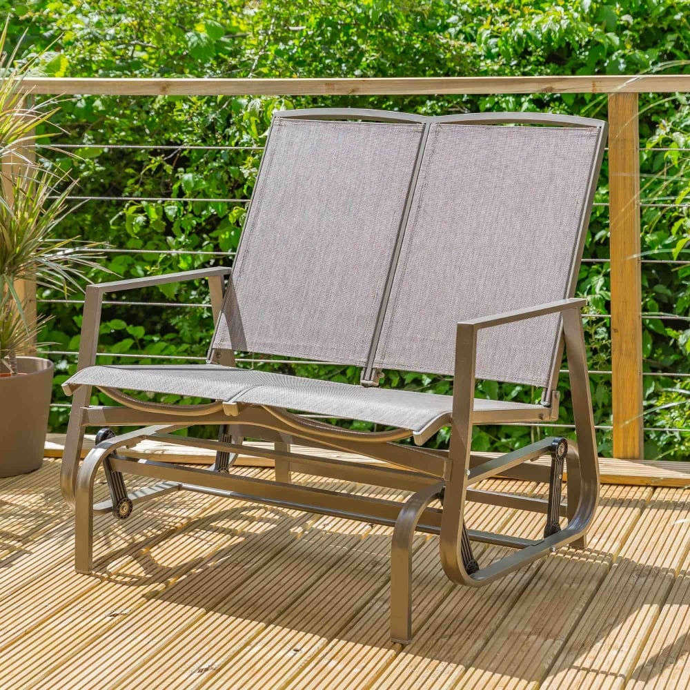 Leisuregrow Verona 2 Seater Glider Bench Garden Street