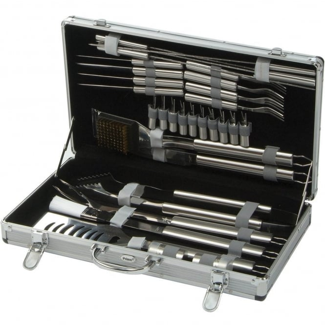 Lifestyle 30 Piece Stainless Steel BBQ Toolkit With Case