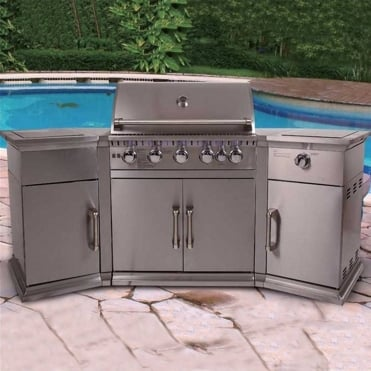 Bahama Island Stainless Steel 5 Burner Gas BBQ