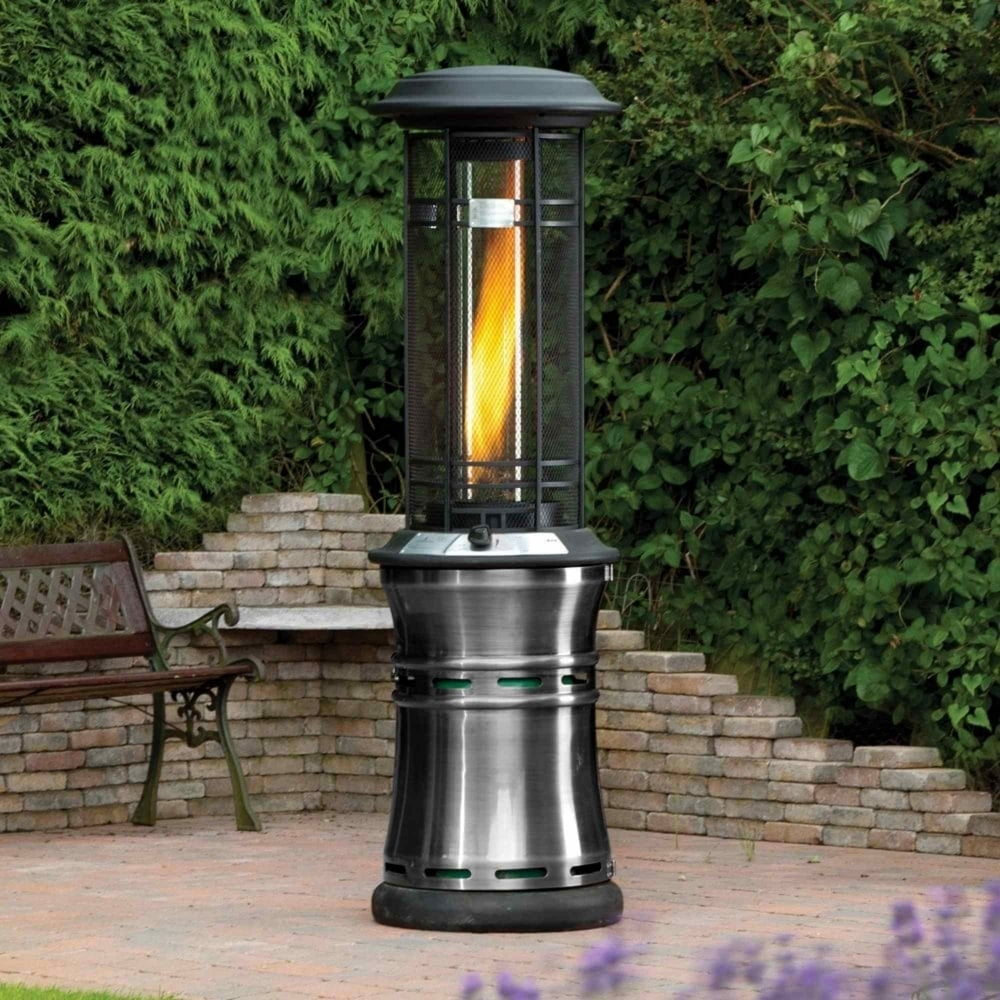 Lifestyle santorini flame 10kw gas patio heater garden for Calentadores para jardin