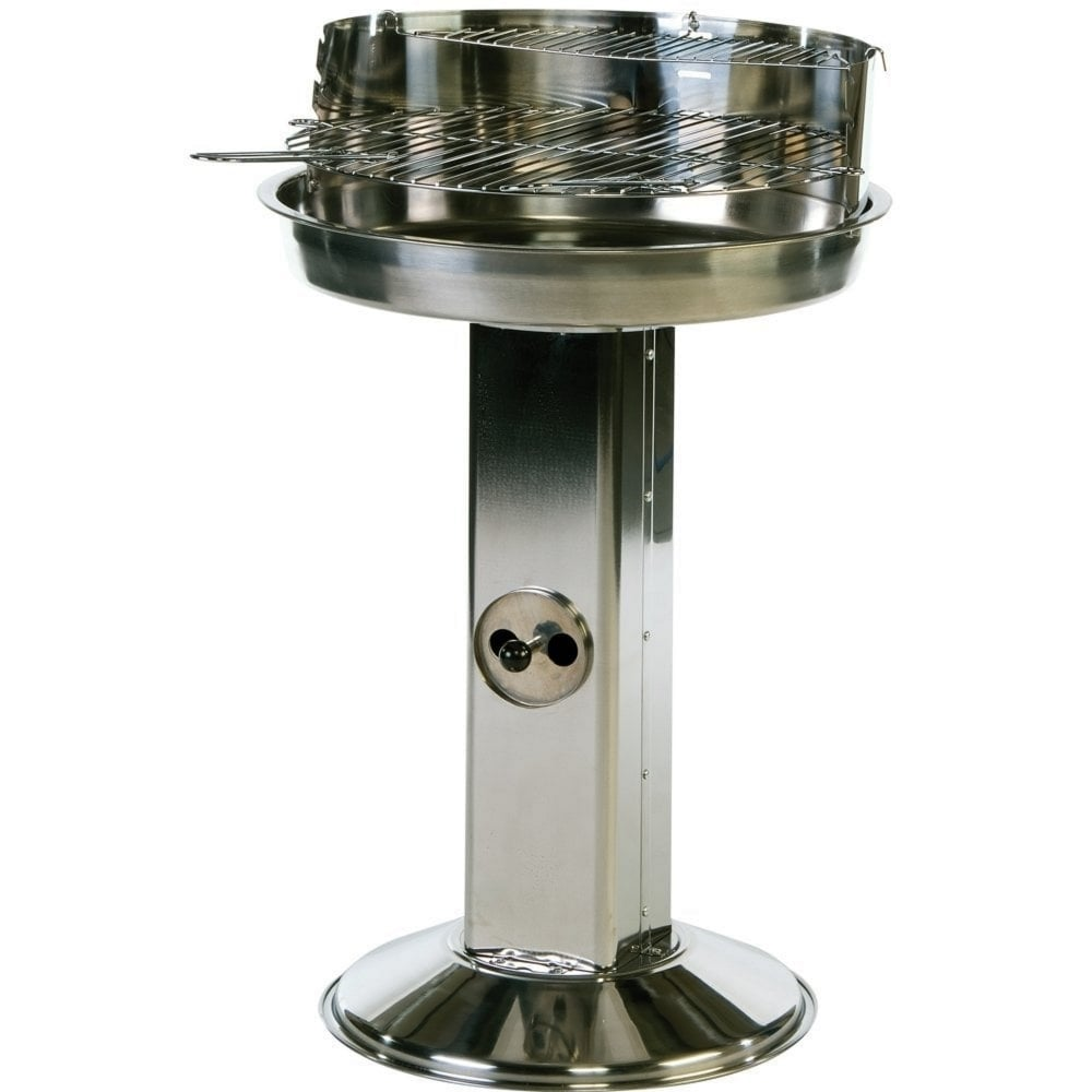 Pedestal Charcoal Grills : Lifestyle stainless steel pedestal charcoal bbq garden
