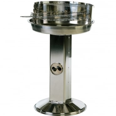 Stainless Steel Pedestal Charcoal BBQ