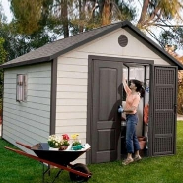Plastic Apex Roof Shed 11ft Wide
