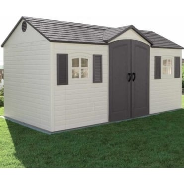 Plastic Apex Roof Shed 15X8