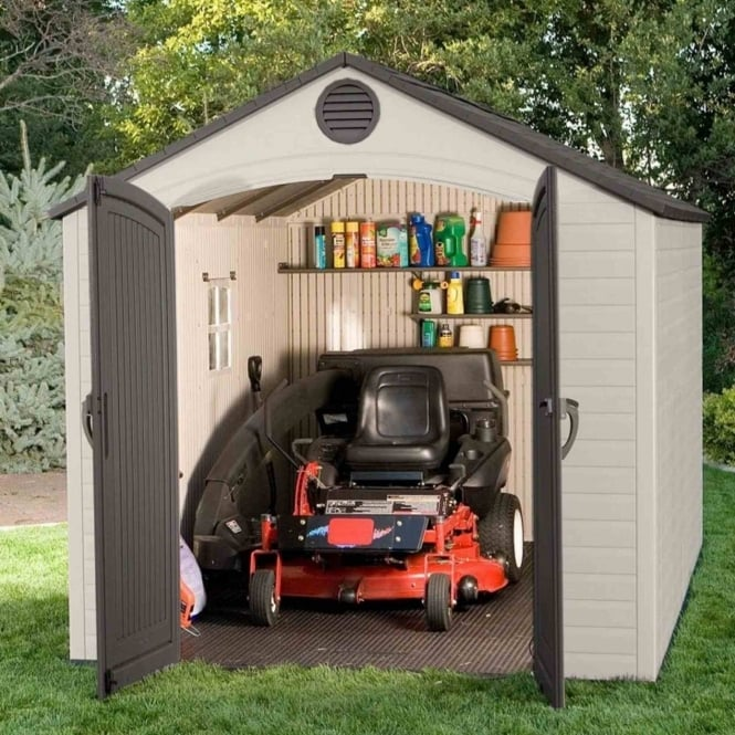 Lifetime Plastic Apex Roof Shed 8X12.5