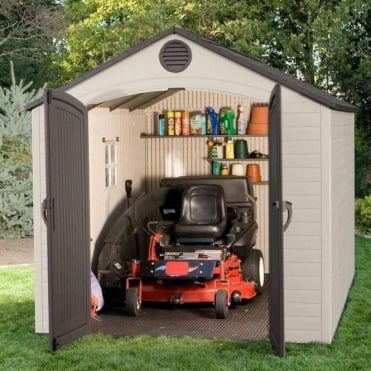 Plastic Apex Roof Shed 8X12.5